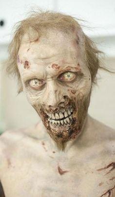 week to week im impressed by the zomb makeup on The walking dead freakin baad!