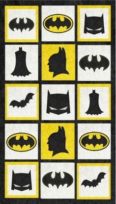 Machine Embroidery Quilts, Pillow Embroidery, Free Machine Embroidery Designs, Machine Quilting, Batman Quilt, Batman Art, Star Stitch, Cross Stitch, Batman Bedroom