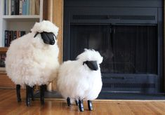 Lalanne-style Sheep Sculpture Furniture is small, perfect as a footrest or decor piece. Small life-size, solid, sturdy-built sheep doubles as a footrest or decor piece on mantle, bookcase or nursery.