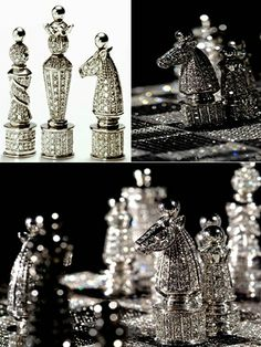 Sparkly chess set.:)