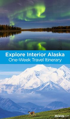 Explore Interior Alaska with this one-week travel itinerary that includes gold-mining, dog mushing, advice on catching the northern lights, and a visit to Denali National Park. #alaska #travel