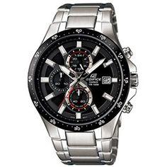 Bonito #reloj #Casio Edifice de caja y pulsera de acero sólido con función de cronógrafo y resistencia al agua de 100m.