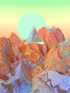 "osean-art: ""The pyramids on the valley """