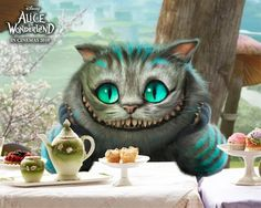 chesire cat mask: more realistic than makeup and allows voice to be the main focus, especially because some of the cat's riddles are rather confusing.