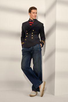 Ralph Lauren Spring 2020 Menswear Fashion Show Collection: See the complete Ralph Lauren Spring 2020 Menswear collection. Look 11 Ralph Laurent, Ivy Style, Salvatore Ferragamo, Nautical Fashion, Nautical Style, Glamour, Vogue Russia, Fashion Show Collection, Cool Suits