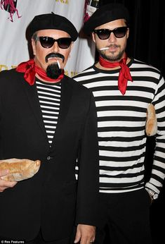 Berets and baguettes: Michael Kors and husband Lance LePere made a sartorial dash in their matching costumes