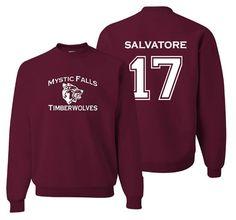 Vampire Diaries Salvatore 17 Unisex Pullover by Studio9Thirty3