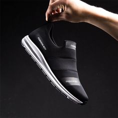 97c03dba623da Men Stretch Elastic Fabric Water Resistant Gym Sneakers Sport Running Shoes
