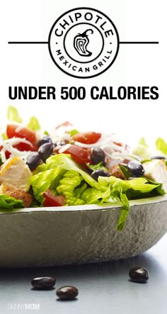 Chiptle option under 500 calories!  Yes please
