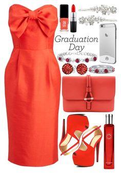"""Graduation Day"" by deedee-pekarik ❤ liked on Polyvore featuring Joanie, Tila March, Hermès, Bling Jewelry, BERRICLE, JINsoon, MAC Cosmetics, Robert Rose, Graduation and reddress"