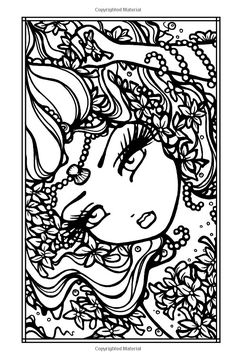 2341 best malebog pige images on coloring Blank Coloring Pages, Mermaid Coloring Pages, Printable Adult Coloring Pages, Mandala Coloring, Coloring Books, Colorful Drawings, Colorful Pictures, Creation Art, Unicorn Pictures