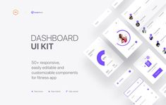 Fitness apps are very suitable for those who seek to develop their physical condition. It's important to design user friendly interface with many clear options. Physical Condition, Ui Kit, App Ui, Chart, Fitness, Design, Keep Fit, Design Comics, Health Fitness