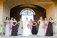 Same bridesmaid dress, three different colors - LOVE IT