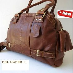 Amazon.com: Genuine TOP Leather Woman Bag Brown Purse Vintage Tote D Lady Girl Tote Retro Id. $100