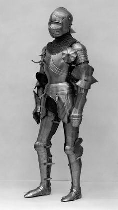 Right pauldron (shoulder defense) marked by Matthes Deutsch | Composed Armor | European, Italian and German | The Met