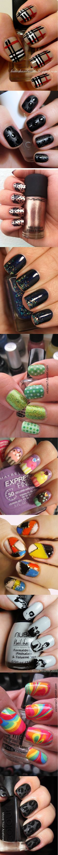 My 10 favorite nail designs on my nail board...so far :-)
