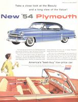 Plymouth Belvedere 1954 Ad Picture