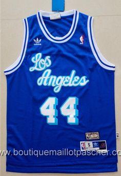 maillot nba pas cher retro Los Angeles Lakers West  44 Bleu mesh tissu  22 58828bb22