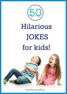 Here's a list of 50 of the BEST jokes, riddles and knock knock joks for kids - guaranteed to make them laugh!