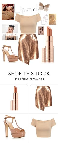 """""""Nude."""" by chillinvibes ❤ liked on Polyvore featuring Estée Lauder, Boohoo, Sergio Rossi, Alice + Olivia, Anastasia, By Terry, men's fashion and menswear"""
