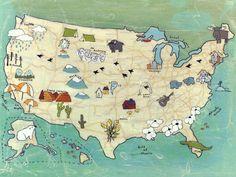 Camp USA Canvas Art