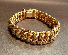 Bracelet Mesh Gold Yellow 18 Carats 750/000