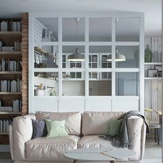 Stylish Apartment Redesign in Minsk Lovely Apartments, Tiny Apartments, Cozy Apartment, Apartment Design, Scandinavian Apartment, Studio Apartment, Scandinavian Style, Small Room Design, Design Room