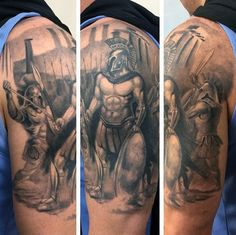 Greek Mythology Tattoo For Men Half Sleeve