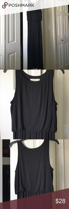 LOFT SZ S Perfect long black maxi!!! Not too thin either so it lays nicely and drapes pretty. Sleeveless and layers pretty under jackets or sweaters. Have several long black maxi dresses and need to let a few go. LOFT Dresses Maxi