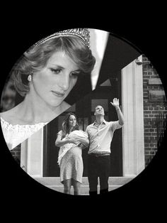 Princess Diana watching over her new grandson Prince George, and son, Prince William & daughter-in-law Princess Catherine