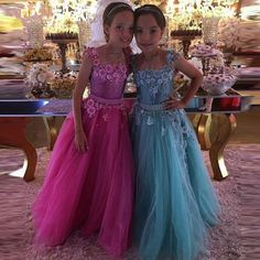 >> Click to Buy << New Flower Girls Dresses Ball Gown Tulle with Beaded Sash Little Princess Birthday Party Dress Pageant Gown 2017 Custom  #Affiliate