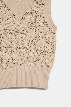 V-Neck Knit Vest. Knit Vest, Zara United States, Knitwear, Ruffle Blouse, V Neck, Pullover, Knitting, Sweaters, Cardigans