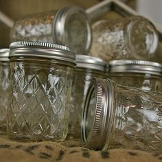 Quilted Crystal Jelly Mason Jar with Lid, 8 oz, 12 Pack