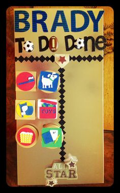 Personalized Magnetic Childrens Chore Chart by Retr0HousewifeGoods, $20.00