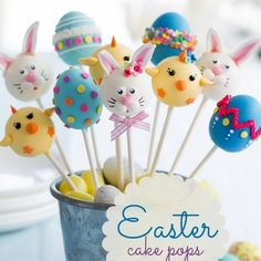 These Easter cake pops are a tasty -- and darling -- kid's party food idea to celebrate this special holiday! #easter