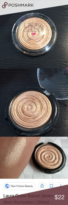 Laura Gellar Gilded Honey Highlighter YouTube favorite and cult classic Highlighter. Stunning baked gelato product gives you a high shine gold sheen to your cheekbones. Used a few times, tons of product left. Makeup Luminizer