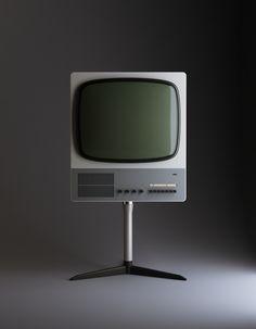 "Television Receiver ""FS80"" (1965 – 1967)   Designer: Dieter Rams, Braun   3D Render: Vladimir Pospelov"