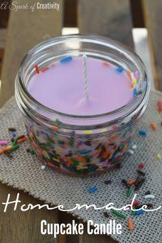 Homemade Cupcake Candle - A Spark of Creativity