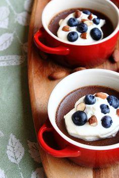Chocolate, Almond & Fleur de Sel Pots de Crème :: my blue & white kitchen