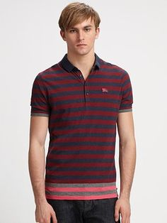 Burberry Brit Striped Polo #SaksLLTrip