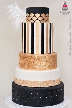 The Great Gatsby Wedding Cake   Esther @ The Frosted Cake Boutique www.thefrostedcakeboutique.com
