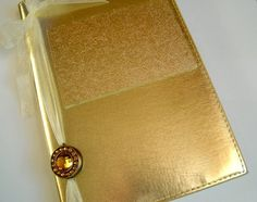 Personalized Golden Wedding Anniversary Guest Book by javagirls
