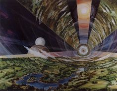 Space Colony Artworks credited to NASA Ames Research Centre I love Science Fiction. Star-trek, Star wars, Firefly, V, . Arte Sci Fi, Sci Fi Kunst, Science Fiction Kunst, Space Colony, 70s Sci Fi Art, To Infinity And Beyond, Space Station, Space Exploration, Oeuvre D'art