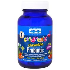 Trace Minerals Research, Children's Chewable Probiotic, Concord Grape, 30 Chewables - iHerb.com