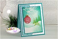 Stampin Up Ornamental Pine and Festival of Trees, card by Sandi @ www.stampingwithsandi.com