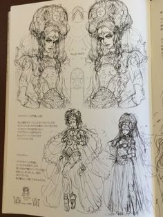 Fantasy of the Dream rough sketches Gatekeepers and Astrolager