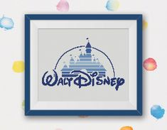 BOGO FREE! Disney Castle Cross Stitch Pattern, Disney Logo Cross Stitch Chart, Needlecraft Embroidery Needlework PDF Instant Download #037-2 by StitchLine on Etsy