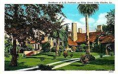 Lake Charles Louisiana LA 1936 Home of A O Fontenot Kirby St Vintage Postcard