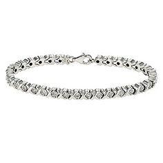 Ernest Jones - Sterling silver half carat diamond tennis bracelet £399