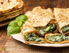 Κρέπες στο φούρνο με σπανάκι - gourmed.gr